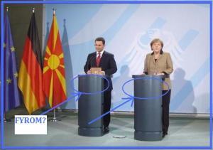 Τού έκοψε τον βήχα η Μέρκελ : Η ένταξη της FYROM σε ΕΕ και ΝΑΤΟ μόνο μετά την επίλυση του ονόματος. ...