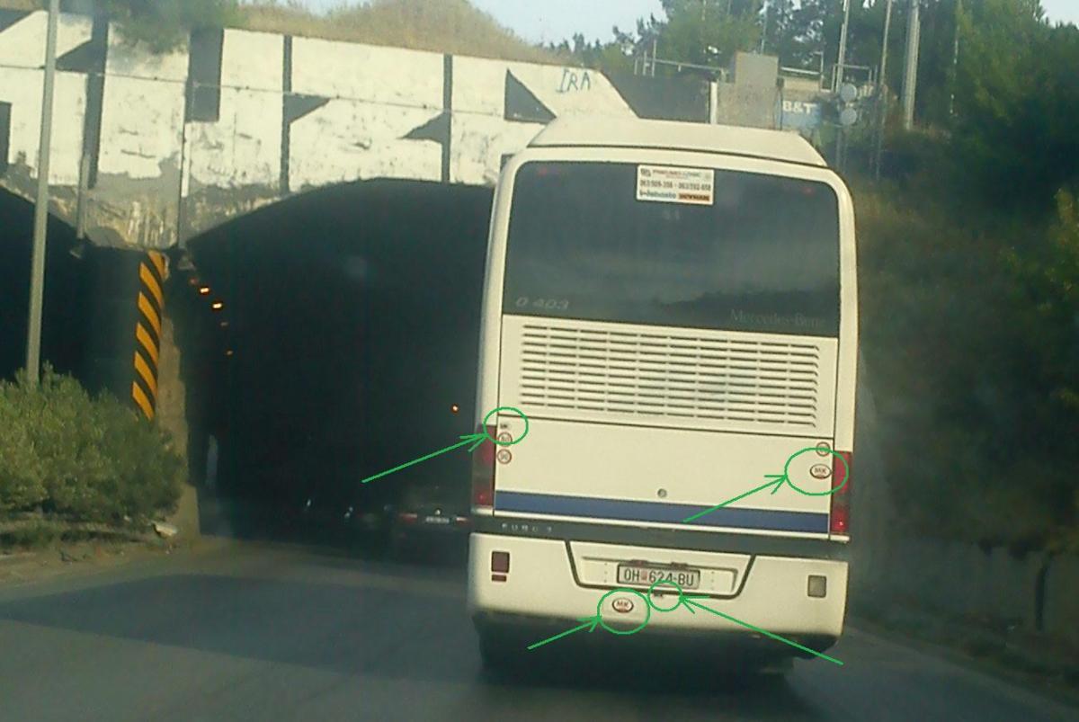 Ακόμα ένα τουριστικό λεωφορείο κινητή διαφήμιση του ΜΚ (Μακεδονία) σε δρόμους Χαλκιδικής- Θεσσαλονίκης.